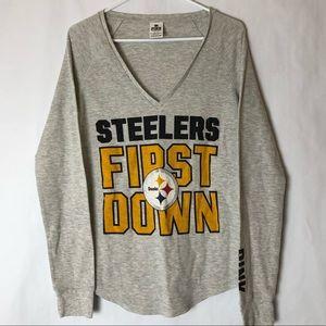 PINK VS  NFL Pittsburgh Steelers Shirt Sz L